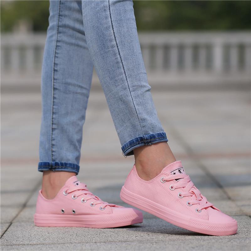 乔丹女鞋低帮帆布鞋2019夏款粉色平底板鞋学生帆布休闲运动鞋街头