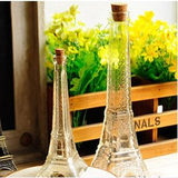 Paris Tower Glass Wishing Bottle Floating Rainbow Bottle Flow Bottle Gift Bottle Creative Decoration Birthday Gift Vase