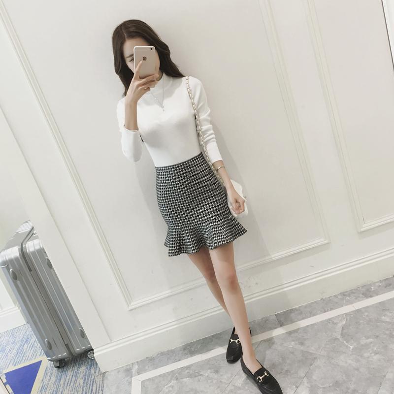 韩版荷叶边短裙