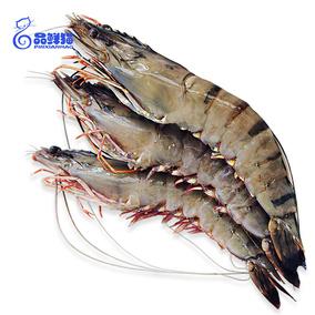 越南黑虎虾超大 冷冻老虎虾鲜活海鲜特大青明虾斑节虾约10只1kg
