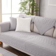 九只猫 四季全棉沙发垫夏季布艺坐垫田园纯色纯棉沙发巾套罩