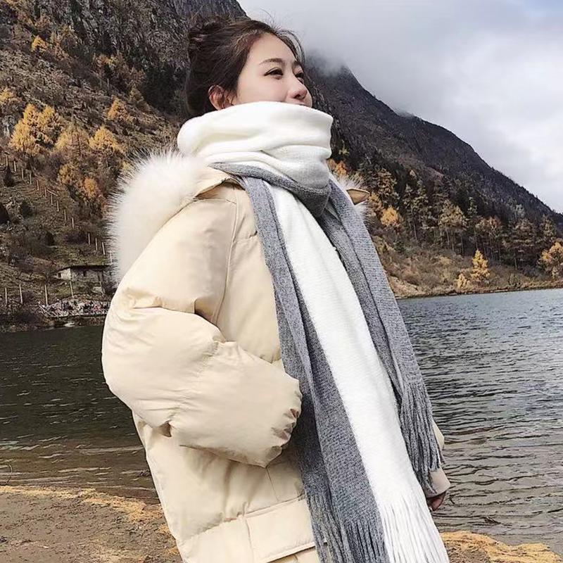 围巾女秋冬季韩版百搭学生情侣男ins可爱少女士针织毛线必备围脖
