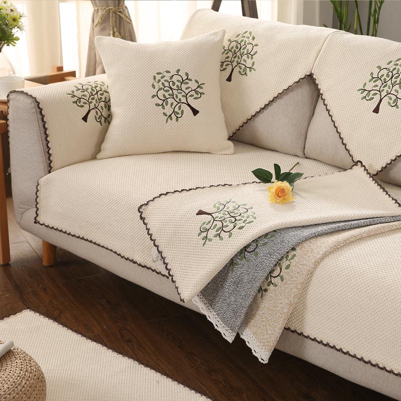 皮沙发坐垫麻