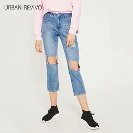 URBAN REVIVO WG21SBKN2001 女士丹宁牛仔裤