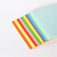Color handmade paper 13x13cm thousand paper crane material origami Kindergarten children's paper-cut color paper jam