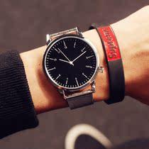 手表女学生韩版时尚潮流简约 大表盘男表皮带女表 情侣手表一对