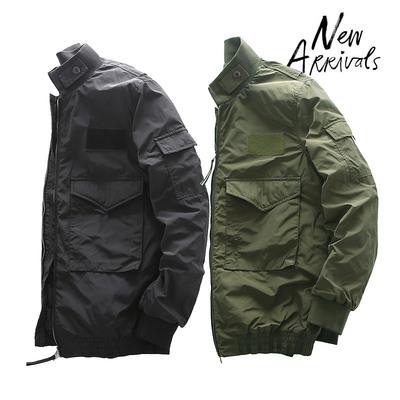 2017冬季新款美国原包美式经典M65大口袋立领纯色拉链棉衣男