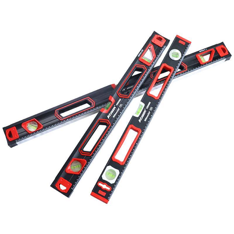 奥奔水平尺高精度平水尺带强磁铝合金工业坡度角度水平仪测量小型