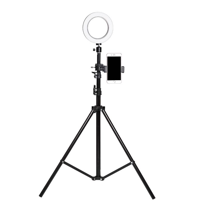 落地多功能补光手机直播支架网红环形灯三脚架户外拍摄桌面自拍架摄影柔光拍摄灯便携式外景打光道具设备