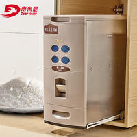 Dimini rice cabinet 304 stainless steel pull-type kitchen cabinet storage rice bucket automatic metering moisture-proof rice storage box