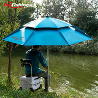 Fishing umbrella big fishing umbrella thickening universal double-layer fishing umbrella windproof sunscreen rain shade sun fishing fishing umbrella fishing gear