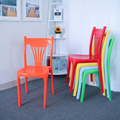 现代简约餐椅加厚塑料椅子时尚胶椅子家用会议成人餐厅快餐靠背椅