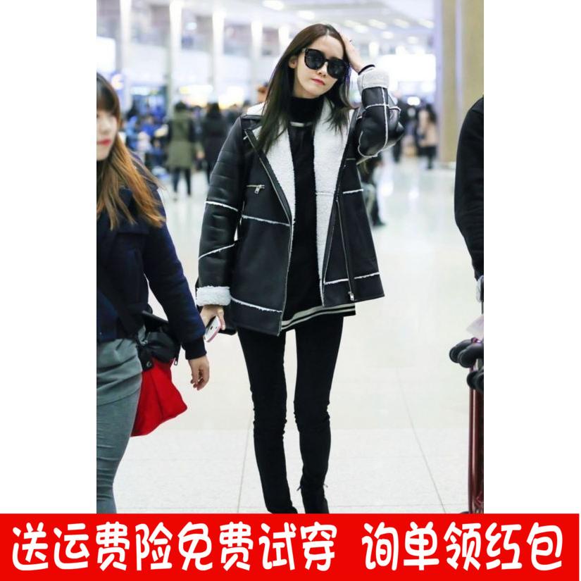 黑色牛仔裤 衣服允儿同款 子明星同款 黑色裤 少女时代林允儿机场同款
