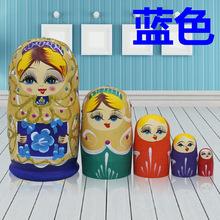 5层纯手工艺品创意摆件儿童益智玩具环保礼物 包邮 俄罗斯套娃正品