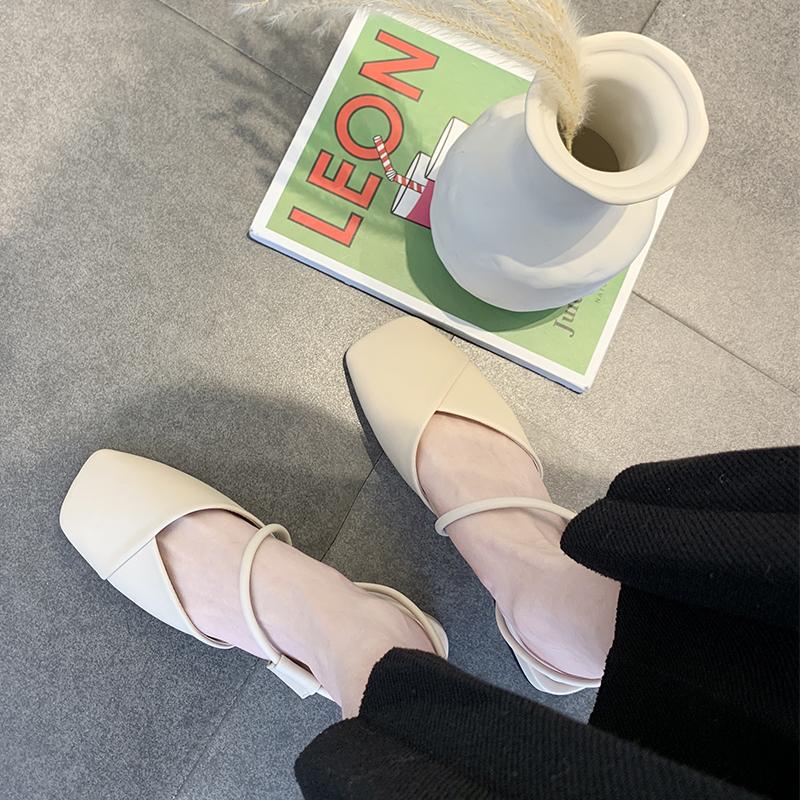 包头凉鞋女2019夏季新款温柔仙女风chic网红粗跟单鞋晚晚鞋女鞋子