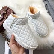 棉鞋女2018冬季新款韩版平底雪地靴女加绒厚底短靴学生短筒女靴子