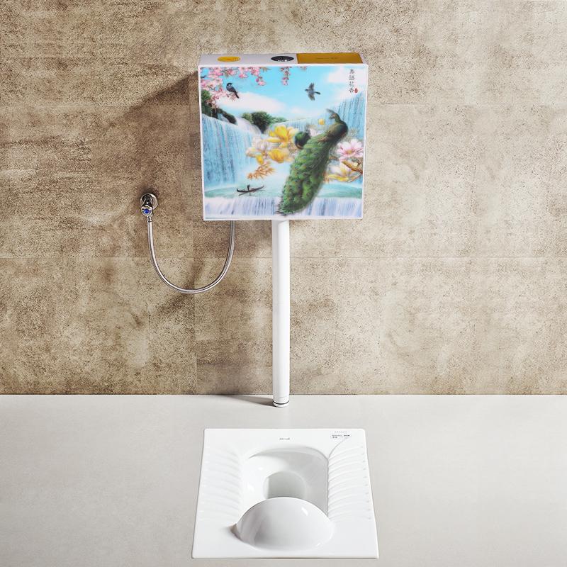 肯勒卫生间蹲便器节能水箱厕所蹲厕便池大便器冲水加厚挂墙式水箱