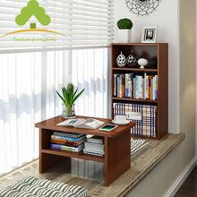 简约现代飘窗桌阳台榻榻米书桌飘窗书柜置物架矮炕桌子日式小茶几