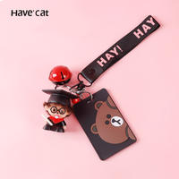 Keychain creative card set bus meal card silicone soft personality simple student cute subway traffic access card female