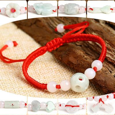 本命年红绳手链玉石平安扣葫芦福锁开运手绳男女情侣饰品手饰礼物