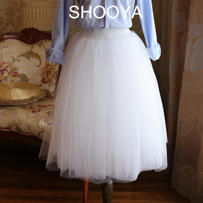 2019白色现货轻婚纱蓬蓬裙多层网纱裙半身裙旅行旅拍度假摩登纱裙