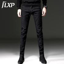 春夏季黑色裤子男牛仔裤修身小脚裤男士薄款韩版潮流休闲直筒长裤