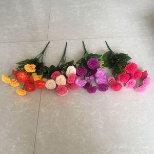 特价新款花卉仿真康乃馨七头娟花塑料花表演花束装饰插花18元包邮