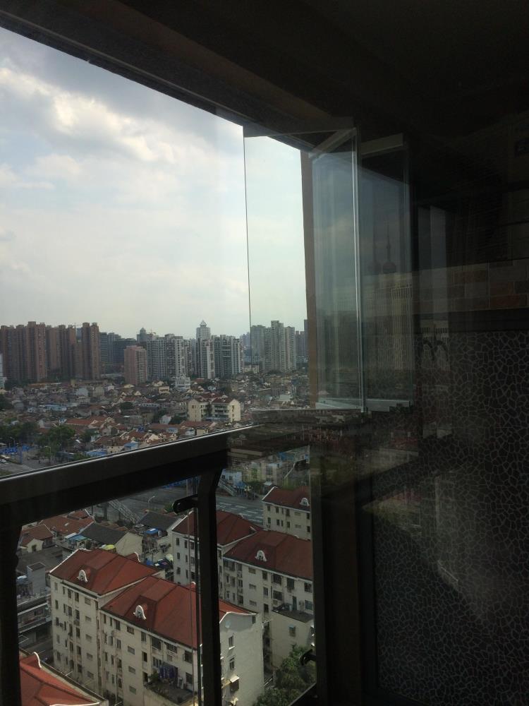 上海创新20年专业铝合金窗户隐形全景折叠推拉无框玻璃门窗封阳台