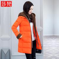 羊羔毛棉衣女中长款2017新款韩版修身羽绒棉服棉袄加厚冬季外套