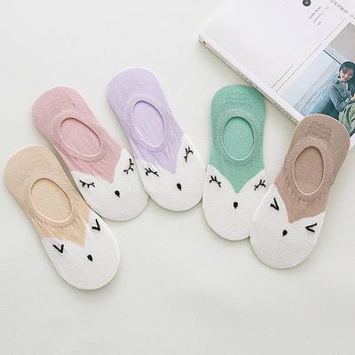 袜子女士船袜薄棉袜短袜夏季防滑低帮浅口隐形韩国可爱运动百搭袜