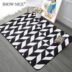 绣奈丝 简约北欧几何箭头地毯 客厅茶几卧室房间满铺床边毯长方形