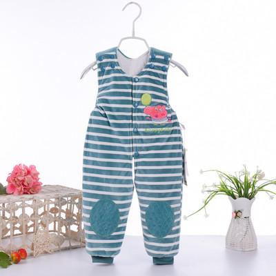 婴儿背带裤男童女宝宝棉裤0纯棉1加厚2可开档3岁儿童保暖裤子冬季