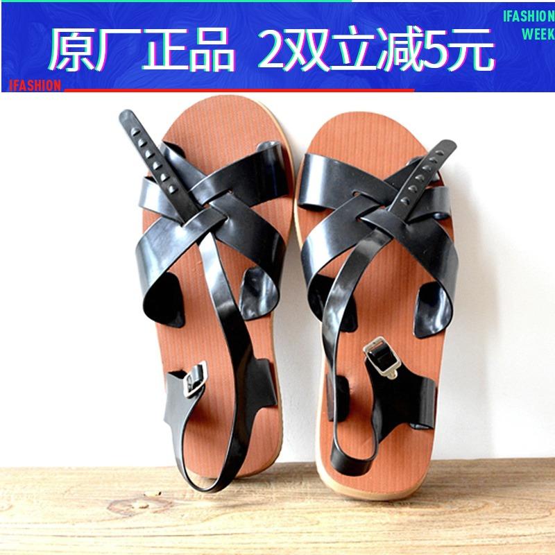 泡沫凉鞋男士夏季轻便软底透气8090后经典怀旧老式复古潮正品五洲