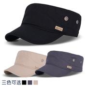 帽子男士平顶帽遮阳防晒夏季棒球帽休闲户外军帽太阳帽中年鸭舌帽