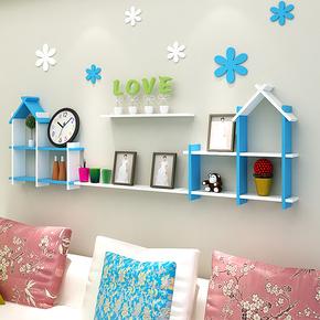 儿童房装饰置物架墙上幼儿园小房子壁柜卧室客厅背景墙装饰架隔板