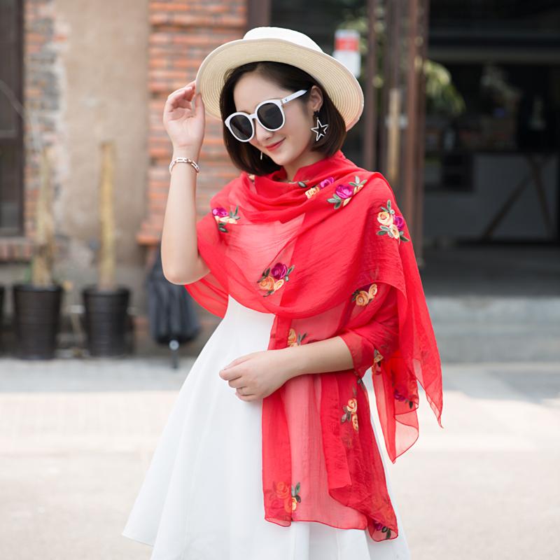 玫瑰丝巾雪纺