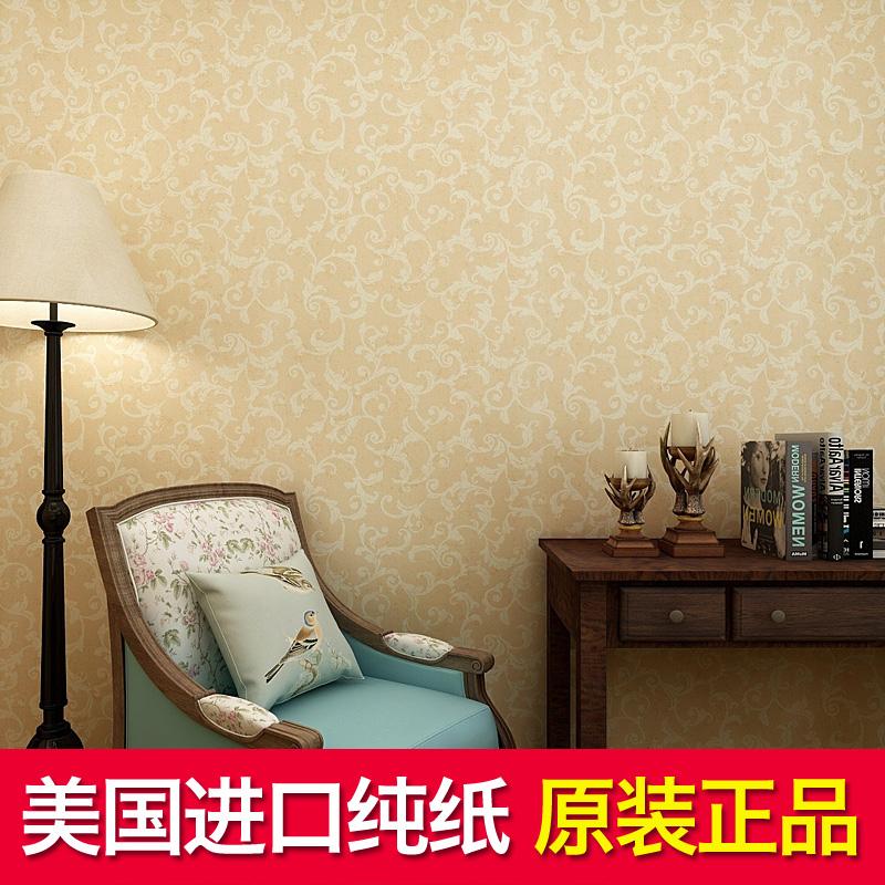 美国原装进口纯纸断批尾货清仓墙纸客厅卧室美式乡村壁纸背景墙