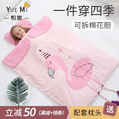 婴儿睡袋宝宝薄款春秋纯棉儿童防踢被神器四季通用秋冬季薄棉被子