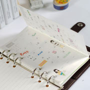 A6 month folding folding page replacement core Korean stationery notepad 6 hole notebook PDA replacement loose-leaf paper
