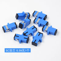 Carrier Grade SC-SC Fiber Coupler Flange Simplex Flange Straight to Connector Adapter Connector