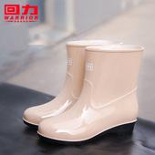 回力雨鞋女韩国可爱加绒保暖雨靴防滑短筒水靴时尚防水鞋套鞋胶鞋