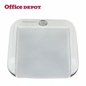 欧迪白色便签盒时尚韩国创意办公便条盒便利贴座办公用品