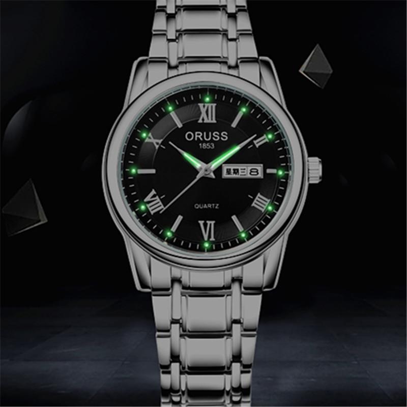 非全自动机械表商务休闲日历时尚超薄男女士手表防水夜光精钢手表