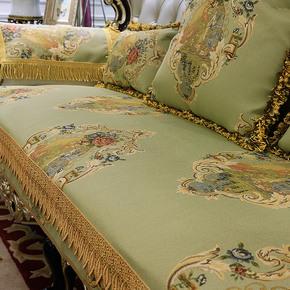 欧式沙发垫高档奢华四季客厅123组合套通用真皮布艺防滑坐垫定做
