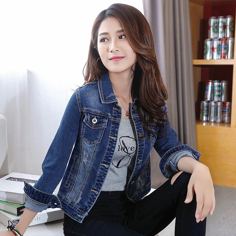 牛仔外套女2019修身新款春秋短款学生韩版上衣女潮流网红休闲外套