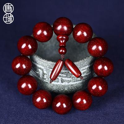 唐域正宗印度小叶紫檀佛珠手串 2.0老料满金星 男女款108颗手链