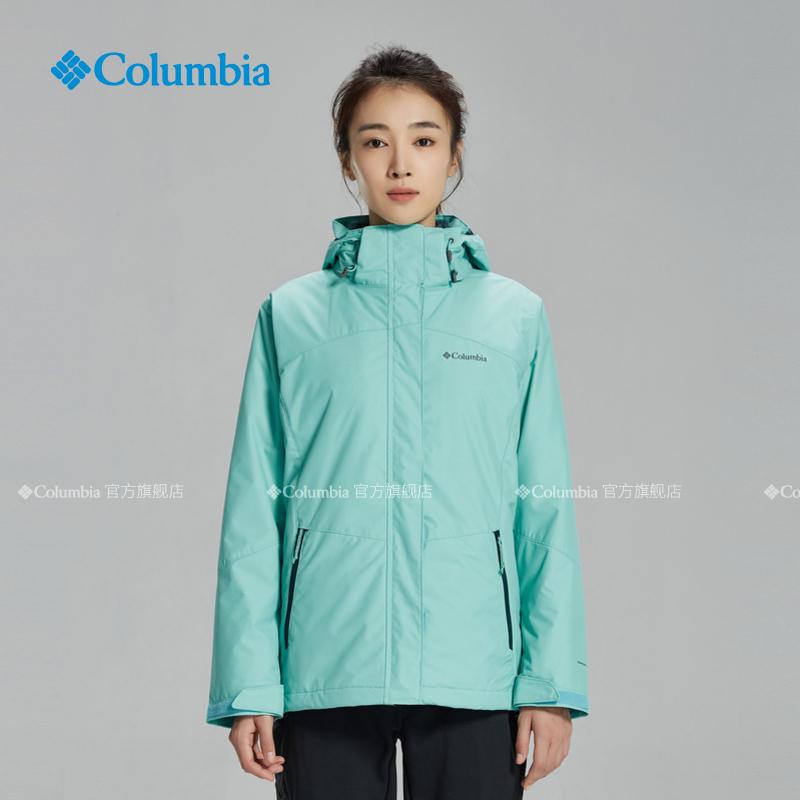 Columbia哥伦比亚户外新品秋冬女热能防水抓绒三合一冲锋衣WR0919