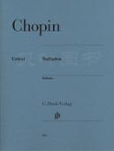 正版 肖邦 G.Henle Balladen 包邮 br. Verlag Chopin 叙事曲 德国亨乐出版集团 亨乐原版classical