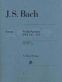 正版 Bach br. 六首帕蒂塔 830 巴赫 Sechs 德国亨乐出版集团 825 BWV Partiten 亨乐原版classical 包邮