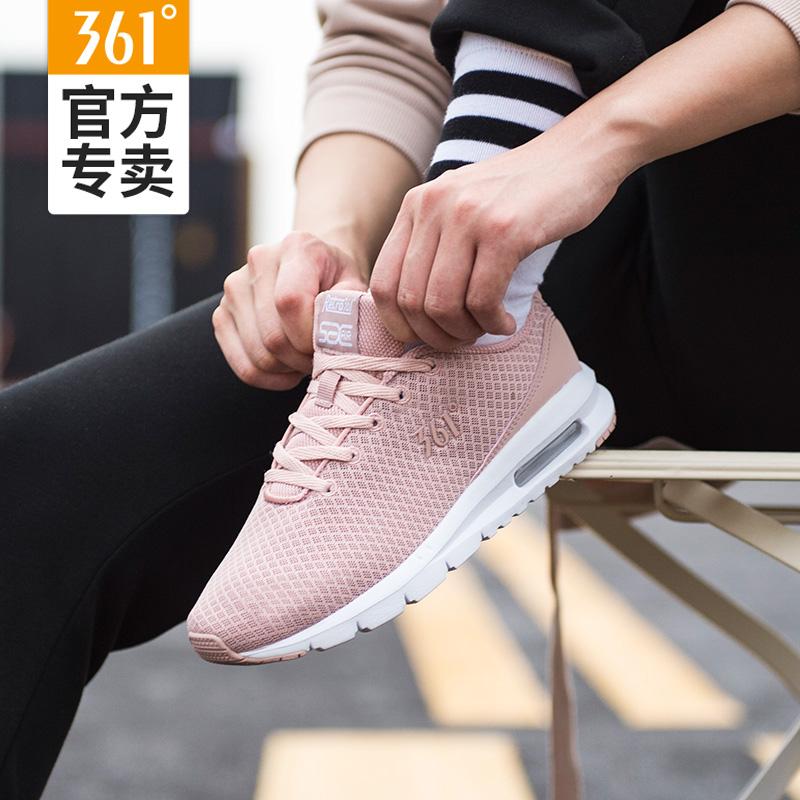 361女鞋运动鞋女秋季网面透气跑鞋361度轻便减震冬季皮面跑步鞋女